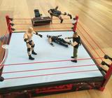 Wrestling, WWE, figurer og ring + tilbehør