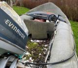 Styrepultbåd, 70 hk , Evinrude