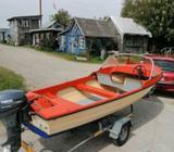 Styrepultbåd, 14 fod, 5 pers